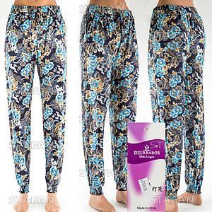 Женские лёгкие штаны Deerbabos 9503-11. Размер 56-60