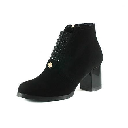 Ботинки демисез женск Foletti FL707 зш черная замша, фото 2