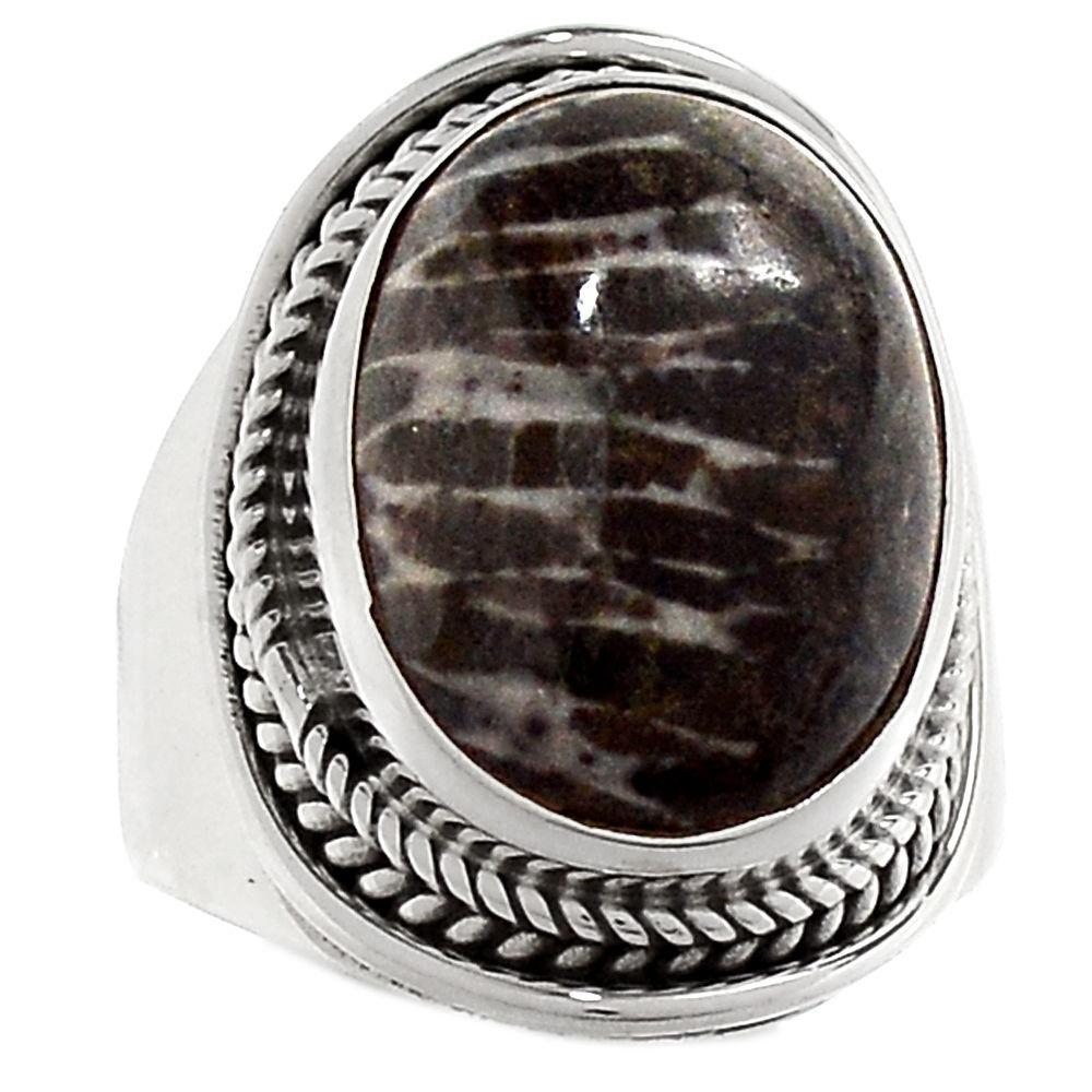 Коралл черный, серебро 925, кольцо, 478КК