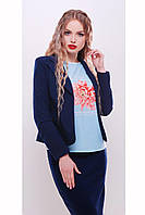 Классический женский пиджак темно-синий