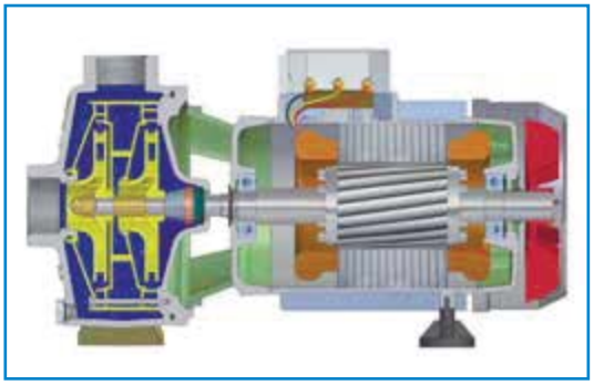 Центробежный поверхностный насос Speroni NBM 300 конструкция