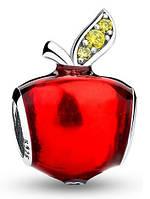 Серебряный шарм Пандора (Pandora) яблоко Белоснежки