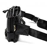 Шкіряна чорна сумка на пояс MR9080A, фото 3