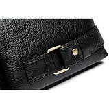 Шкіряна чорна сумка на пояс MR9080A, фото 6