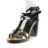 Босоножки женские Rovigo-Rifellini R866-Y-354 черно-золотые