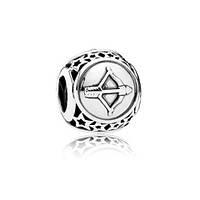 Серебряный шарм Пандора (Pandora) знак зодиака Стрелец