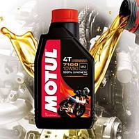 Масло для 4-х тактных двигателей мотоцикла Motul 7100 4T 10W50 (1л)