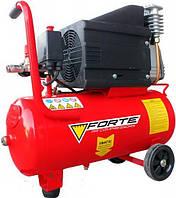 Компрессор FORTE NC-24-10 - 10 атм.,1,8 кВт, вход 285 л.м., ресивер 24 л