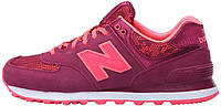 Женские кроссовки New Balance Classics WL574 - Nouveau Lace Red