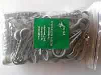 Крепеж кабельный ёлочка круглая d16 уп (50шт) серая