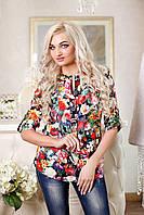 Женская блуза в цветочный принт, фото 1