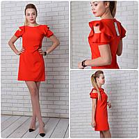 Платье с рюшами арт 783 красный, фото 1