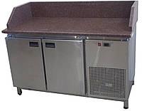 Холодильный стол с гранитной столешницей (3 борта, 2 двери)
