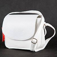 Белая сумочка 1381wr через плечо лаковая кросс-боди под кожу питона