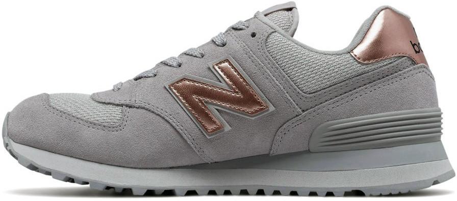 Женские кроссовки New Balance 574 Rose Gold/Grey, Нью беланс 574