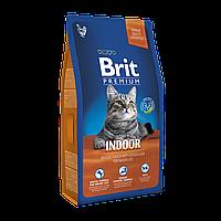 Brit Premium INDOOR 8 кг- корм с мясом курицы для кошек, живущих в доме