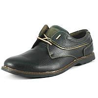 Туфли мужские GSL GSL1806 черно-оливковые