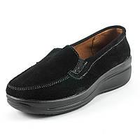 Мокасины женские Zoja's shoes 75211черная замша