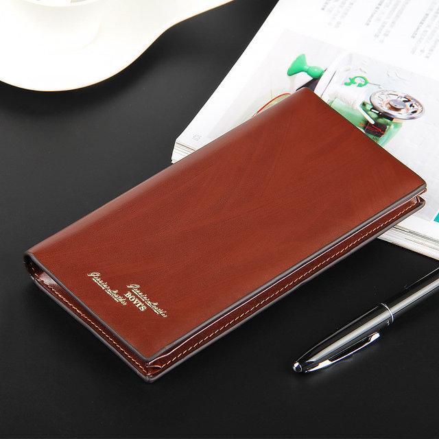 Мужской кошелек с отделением для документов