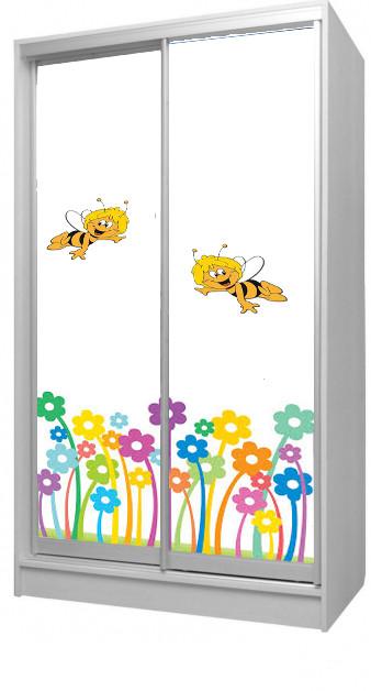 Шкаф - купе Цветы 2