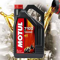 Масло для 4-х тактных двигателей мотоцикла Motul 7100 4T 10W60 (4л)