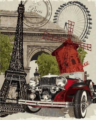 Картина по номерам VP689 Винтажная марка Франция (40 х 50 см) Турбо
