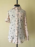 Детская рубашка или блузка для девочек, цвета пудры, фото 1