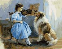 Картина по номерам VP735 Урок музыки Худ Константин Разумов (40 х 50 см) Турбо
