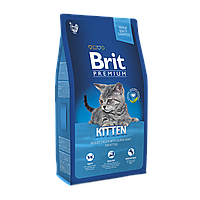 Brit Premium (Брит Премиум) KITTEN 0.8кг - корм с курицей в лососевом соусе для котят