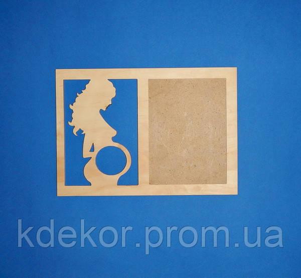 Рамка для фотографії і знімки УЗД заготівля для декору (розмір під фото 20х15см.)