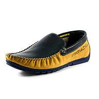 Мокасины мужские MIDA 11966-214 сине-желтый