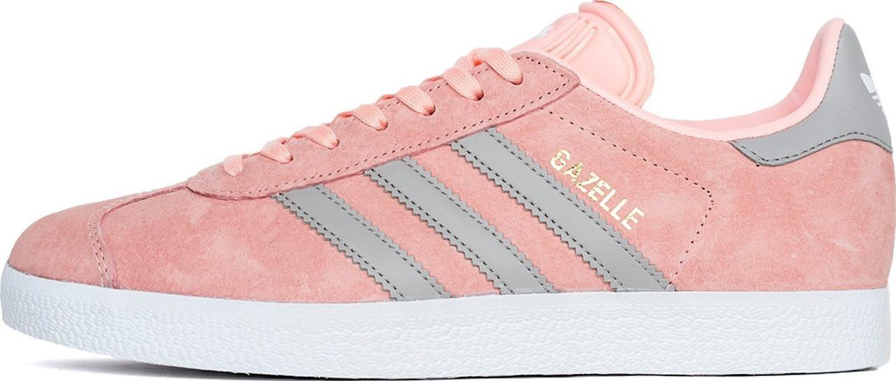 Женские кроссовки Adidas Gazelle Pink/Grey BA7656, Адидас Газели