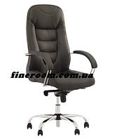 Кресло офисное для руководителя BOSTON steel chrome (база COMFORT)  ECO-30