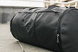Мужская кожаная сумка бочка mod.ROMB из экокожи, фото 6