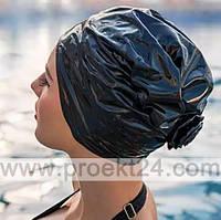 Шапочка для плавания тканевая с глянцевым покрытием