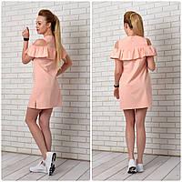 Платье-рубашка 906 персик, фото 1