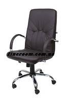 Кресло офисное для руководителя MANAGER steel chrome LE-К