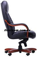 Кресло БУФФАЛО HB кожа Люкс комбинированная черная