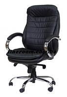 Кресло для руководителя ВАЛЕНСИЯ HB кожзам люкс черный