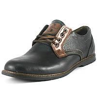 Туфли мужские GSL GSL2016 черно-коричневые