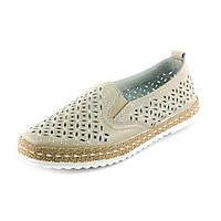 Мокасины женские Allshoes A2816-6 бежевый