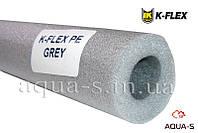 Теплоизоляция для труб K-FLEX PE 22x6 мм. из вспененного полиэтилена (серая)