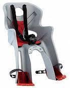 Сиденье детское переднее Bellelli Freccia Standart B-fix до 15 кг, серебристое с красным