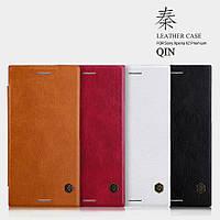 Кожаный чехол Nillkin Qin для Sony Xperia XZ Premium (4 цвета)