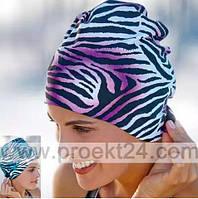 Шапочка для плавания тканевая с регулируемой липучкой