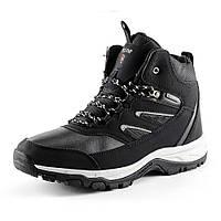Ботинки зимние  мужские Restime PMZ 14307 черный