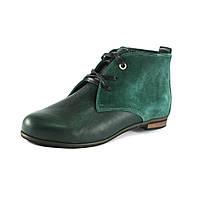Ботинки демисез женск VOG VG004-1 зеленый кожа+замша