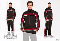 Костюм спортивный мужской трикотажный с лампасами, копия Dolce and Gabbana