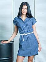 Летнее джинсовое платье - рубашка размер:44,46,48,50,52