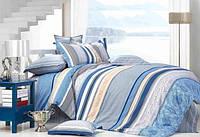 Двуспальный комплект с евро простынью Голубой Закат